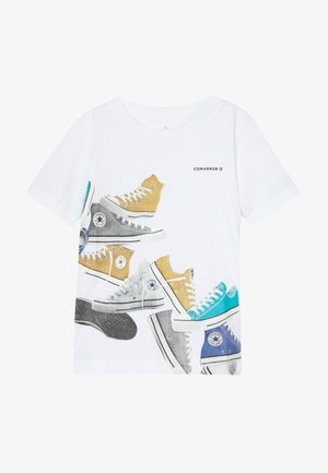 ASCENDING SNEAKERS TEE - T-shirts med print - white