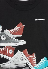 Converse - ASCENDING SNEAKERS TEE - Camiseta estampada - black - 3