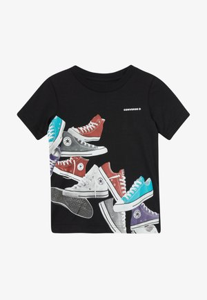ASCENDING SNEAKERS TEE - T-shirts med print - black