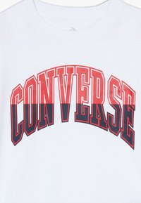 Converse - COLLEGIATE SPLICE TEE - Triko spotiskem - white - 3