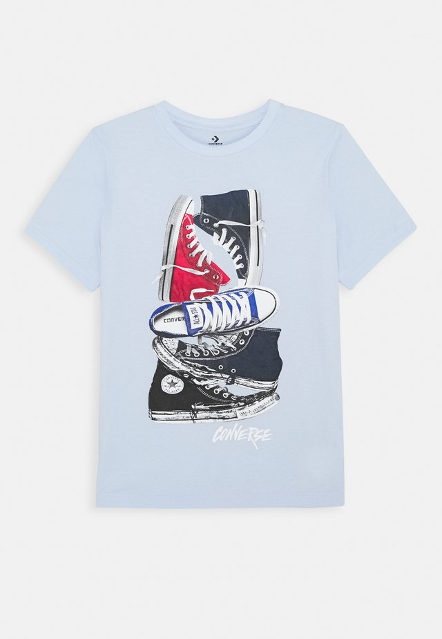 STACKED REMIX TEE - T-Shirt print - porpoise