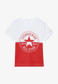 Converse - SPLICED CHUCK PATCH TEE - Triko spotiskem - white - 2