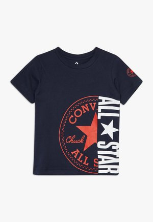 CHUCK PATCH ALL STAR SPLIT TEE - T-shirt imprimé - obsidian