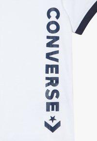 Converse - VINTAGE LOGO RINGER TEE - Print T-shirt - white/obsidian - 3