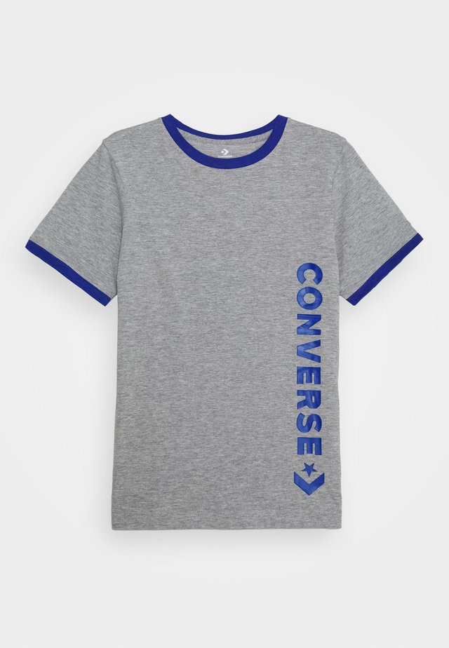 VINTAGE LOGO RINGER TEE - Camiseta estampada - dark grey heather/blue