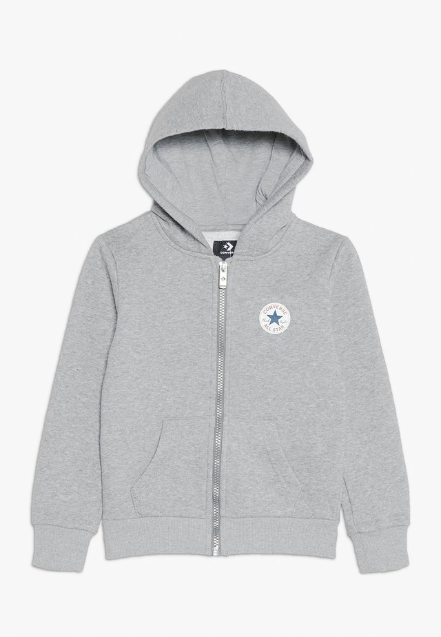 CHUCK PATCH FULL ZIP HOODIE  - Sudadera con cremallera - dark grey heather