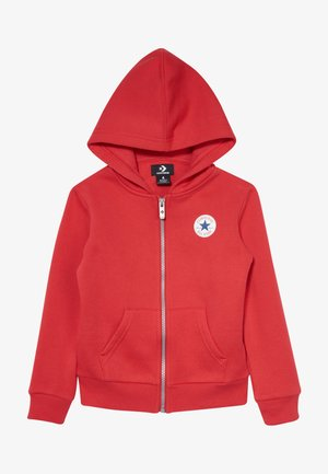 CHUCK PATCH FULL ZIP HOODIE  - Mikina na zip - university red