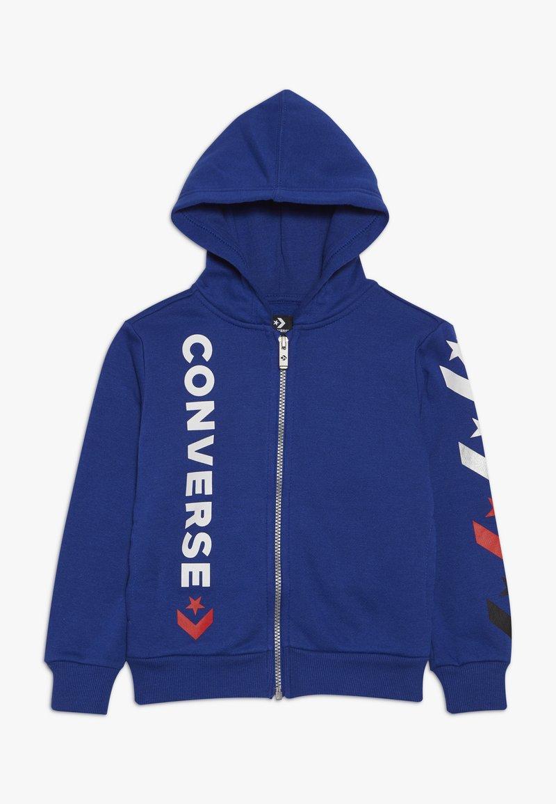 Converse - MULTI STAR CHEVRON FULL ZIP - Zip-up hoodie - blue