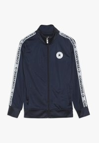 Converse - TRICOT TAPING TRACK JACKET - Training jacket - obsidian/wolf grey - 0