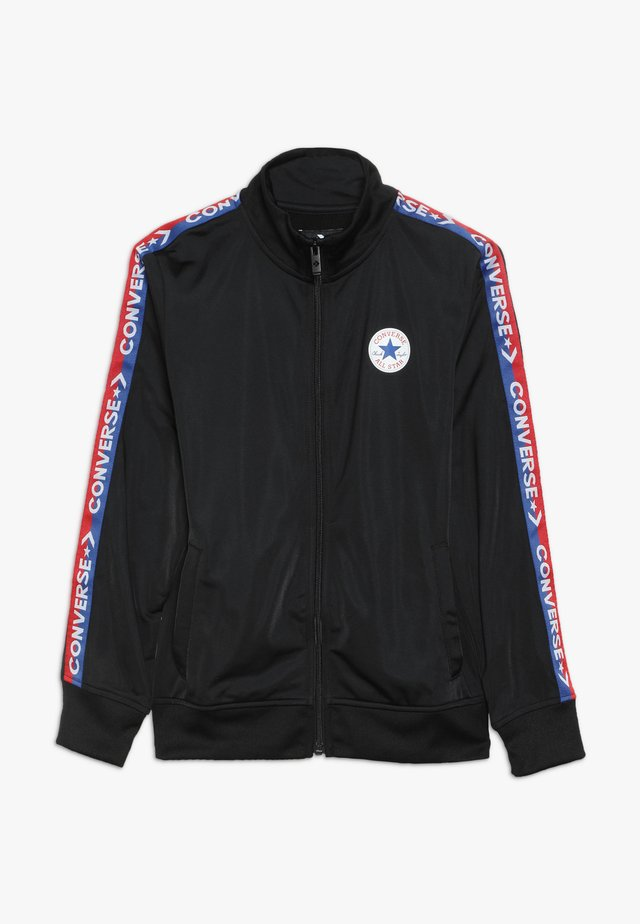TRICOT TAPING TRACK JACKET - Training jacket - black/blue