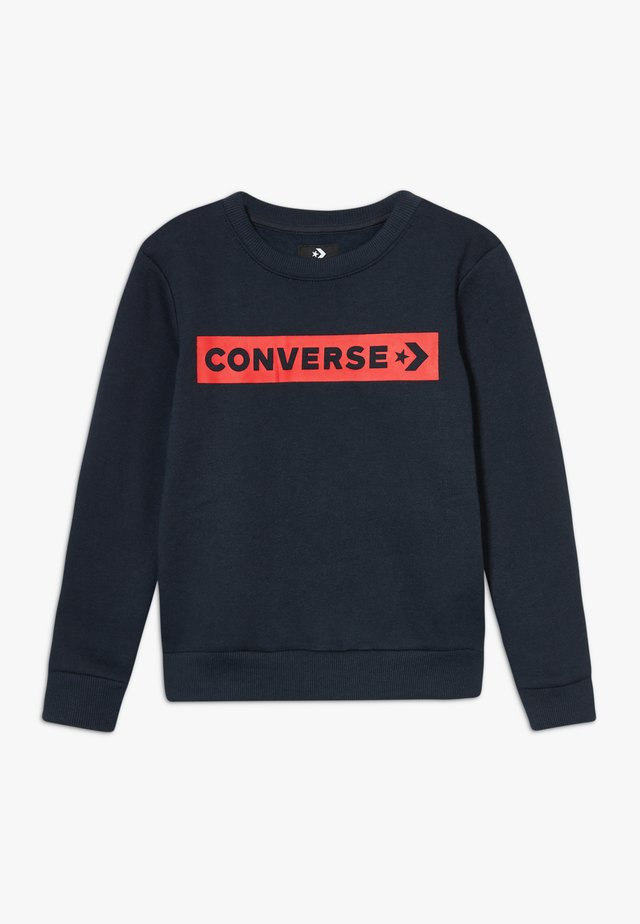 WORDMARK CREW - Sweater - obsidian