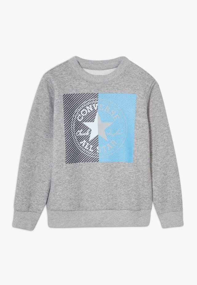 COLOURBLOCK CREW - Sweater - dark grey heather
