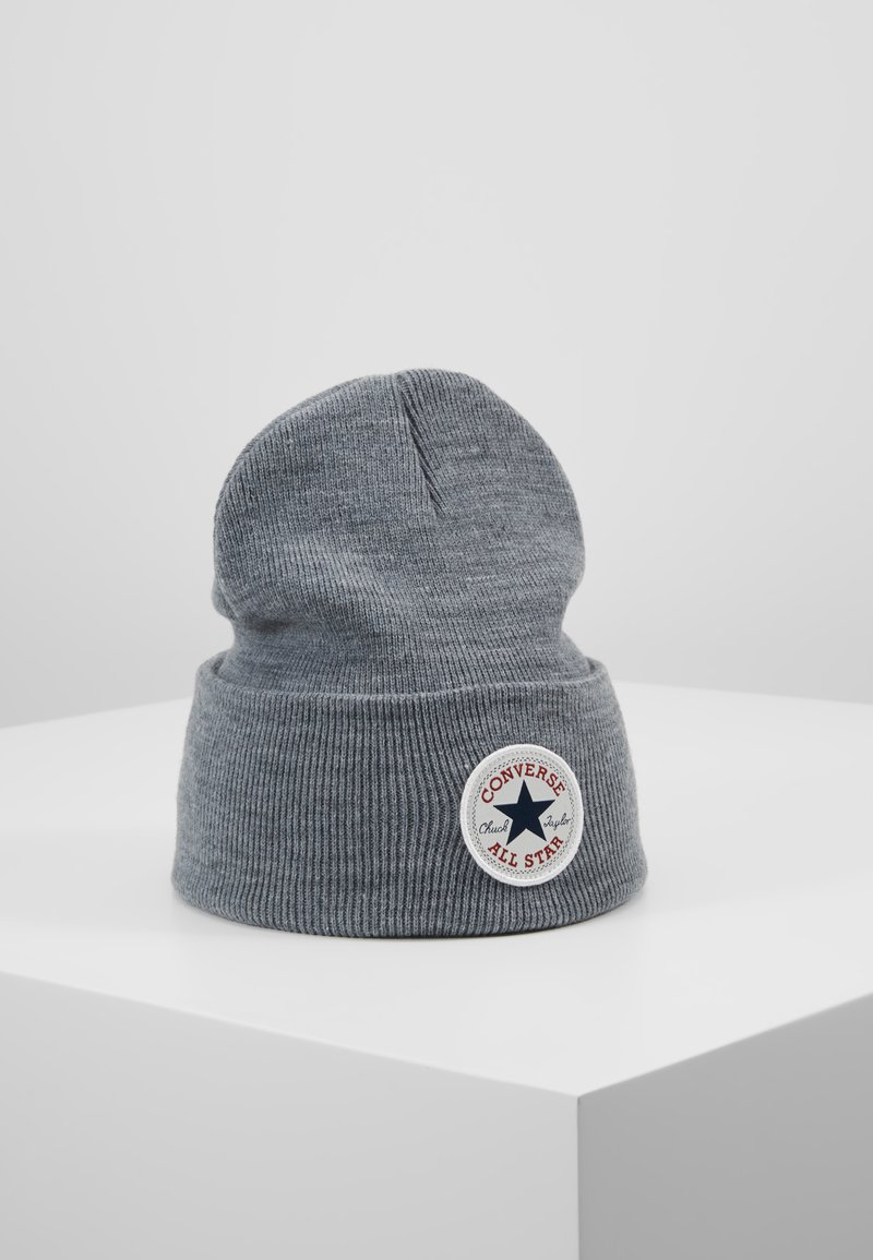 Converse - CHUCK PATCH TALL BEANIE - Mütze - vintage grey heathered