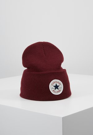 CHUCK PATCH TALL BEANIE - Pipo - dark burgundy