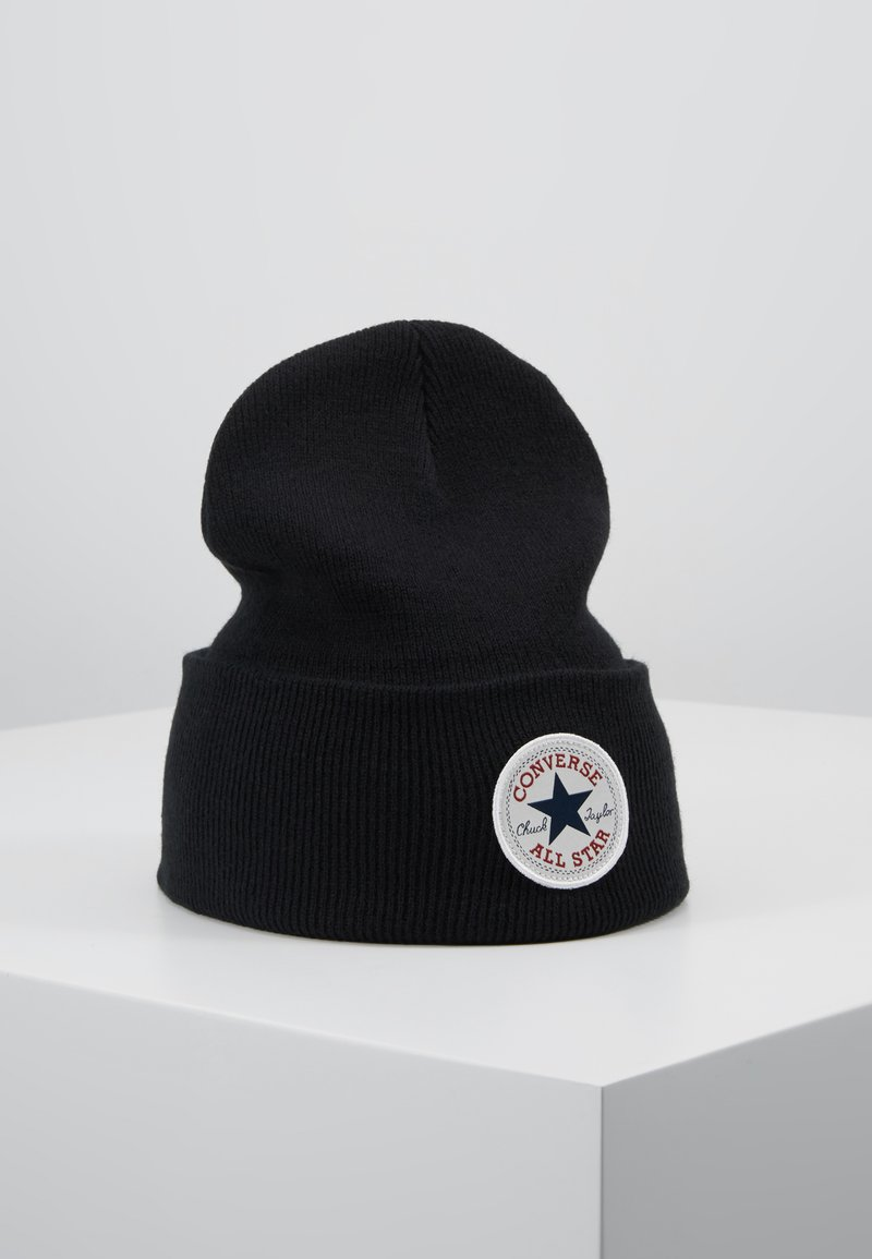 Converse - CHUCK PATCH TALL BEANIE - Gorro - black