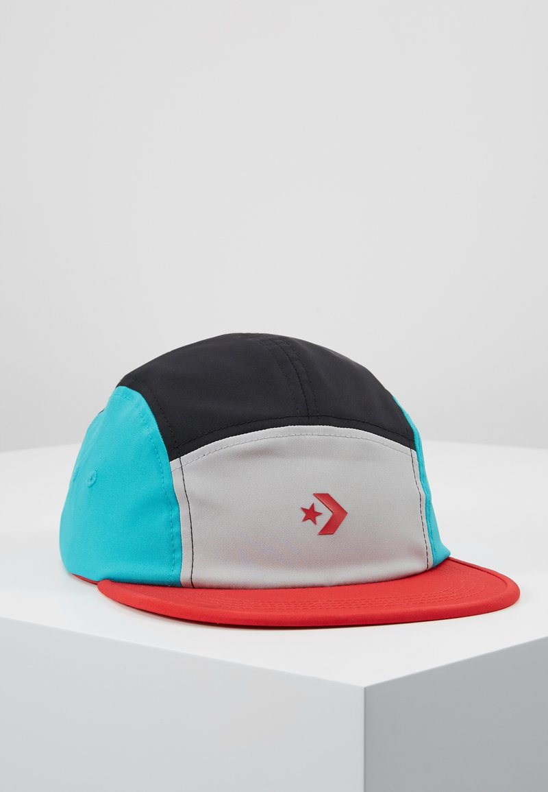 Converse - COLORBLOCK GRAPHIC CAMP - Cap - wolf grey/turbo green