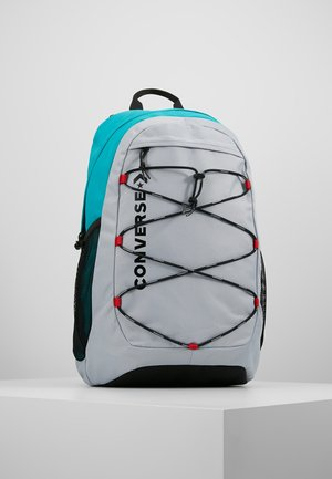 SWAP OUT BACKPACK - Reppu - wolf grey/turbo green/enamel red
