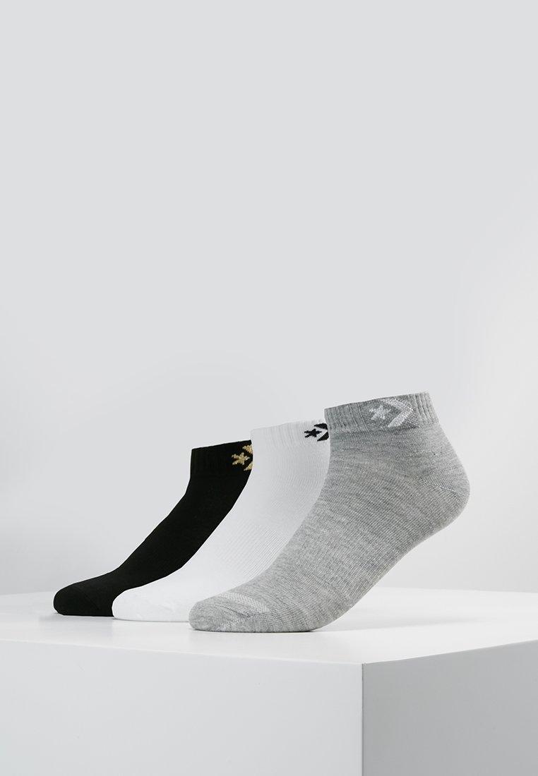 Converse - WOMEN STAR CHEVRON LOGO FLAT 3 PACK - Strømper - light grey/silver/white/black/gold