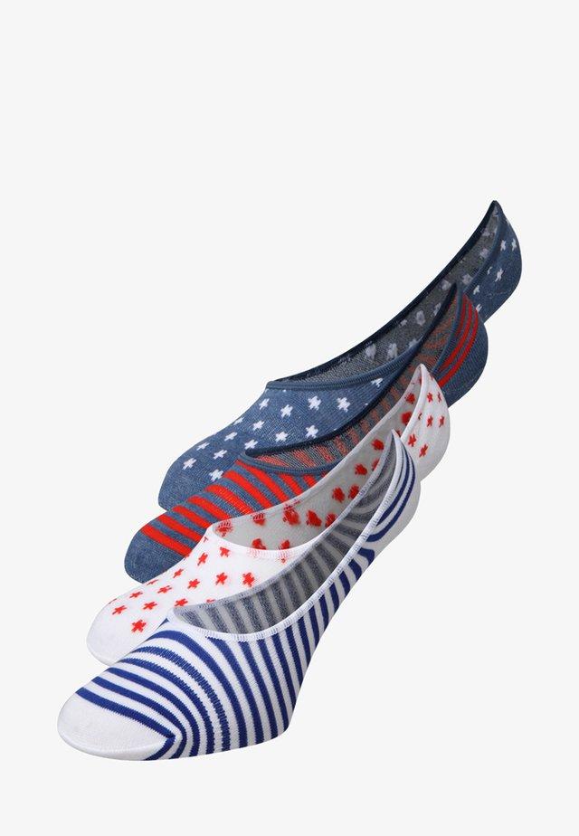 2 PACK - Trainer socks - white/denim