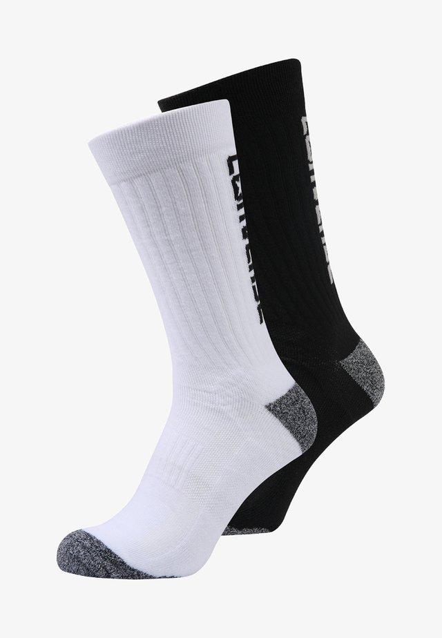MENS PERFORMANCE BACK CREW 2 PACK - Socks - black/wolf/white