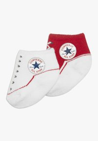 Converse - BOOTIES BABY 2 PACK - Ponožky - red - 0
