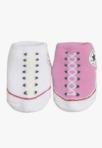 Converse - BOOTIES BABY 2 PACK - Strumpor - pink/white - 5