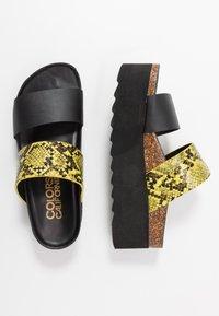 Colors of California - Pantofle na podpatku - yellow - 3