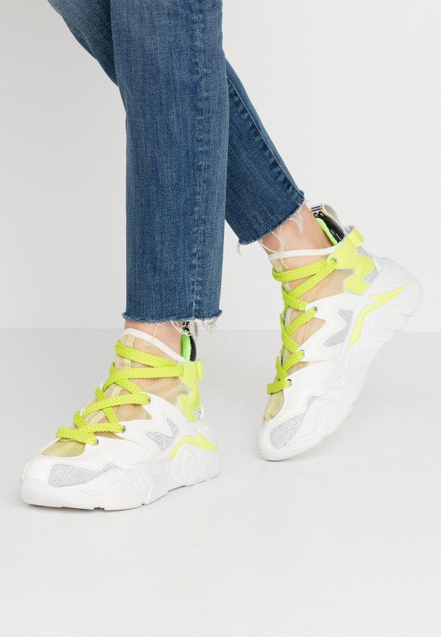 Sneakersy wysokie - lime