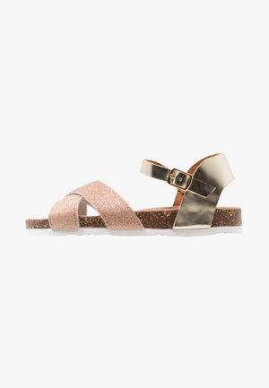 GLITTER AND LAMINATED BUCKLE  - Sandaler - cop