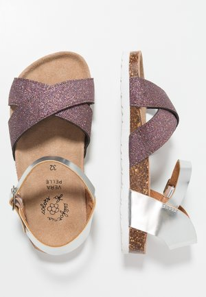 GLITTER AND LAMINATED BUCKLE  - Sandales - multicolor