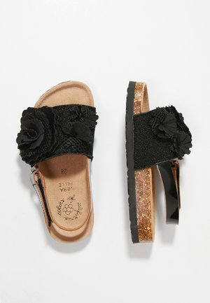 BIO WITH FLOWERS - Sandaler - black
