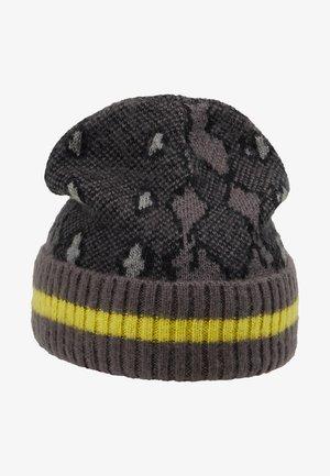 SNAKE INTARSIA HAT - Gorro - grey