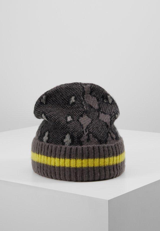 SNAKE INTARSIA HAT - Muts - grey