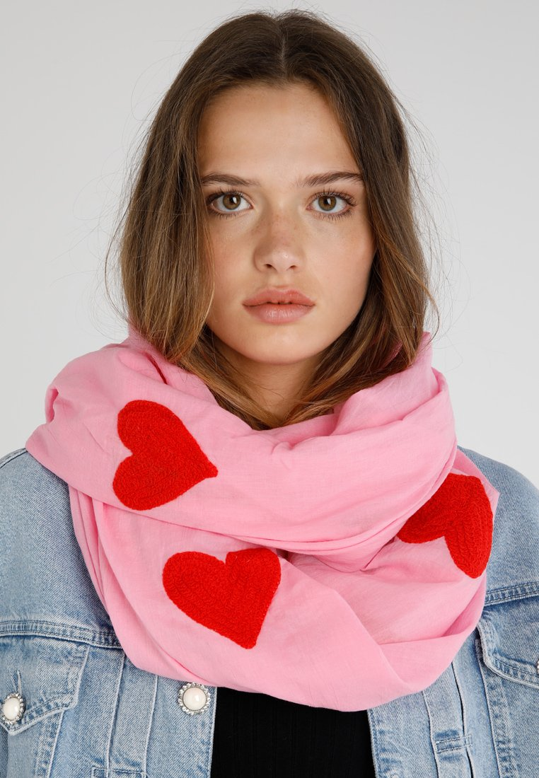 Codello - HEARTS EMBROIDERED - Foulard - pink