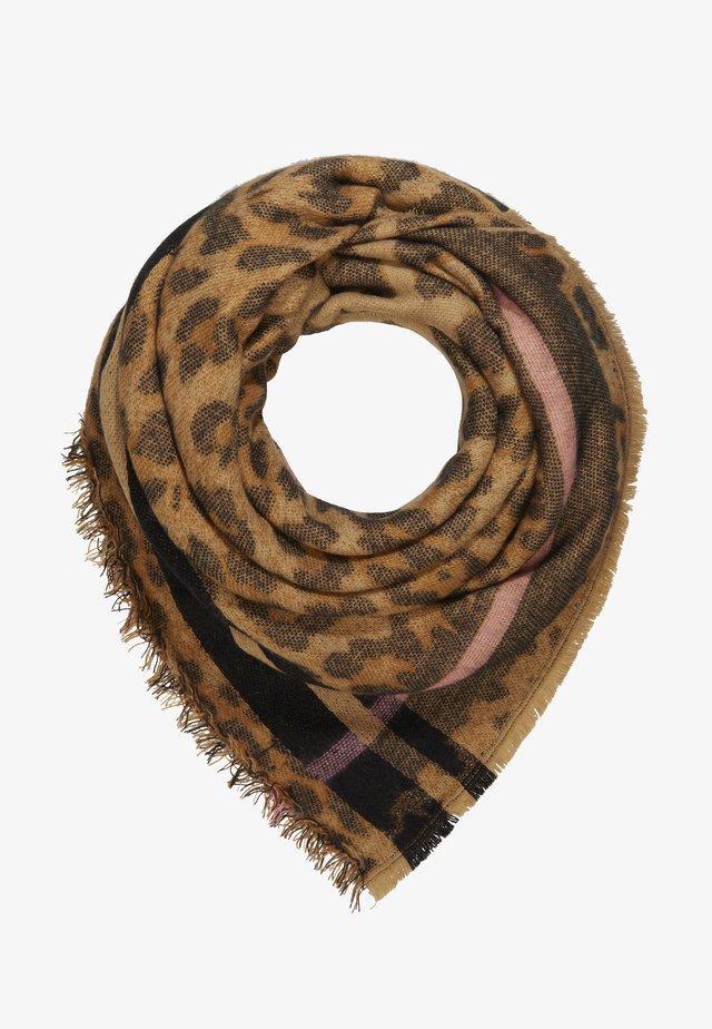 LEPARD BLANKET - Sjal / Tørklæder - camel