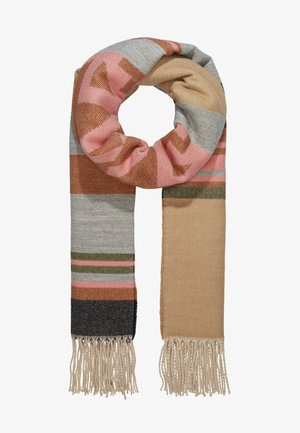 BLANKET STRIPED ETHNO PART - Sjaal - camel