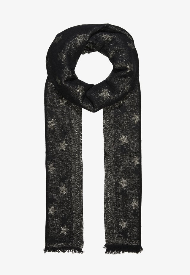 METALLIC YARN STARS WOVEN - Szal - black