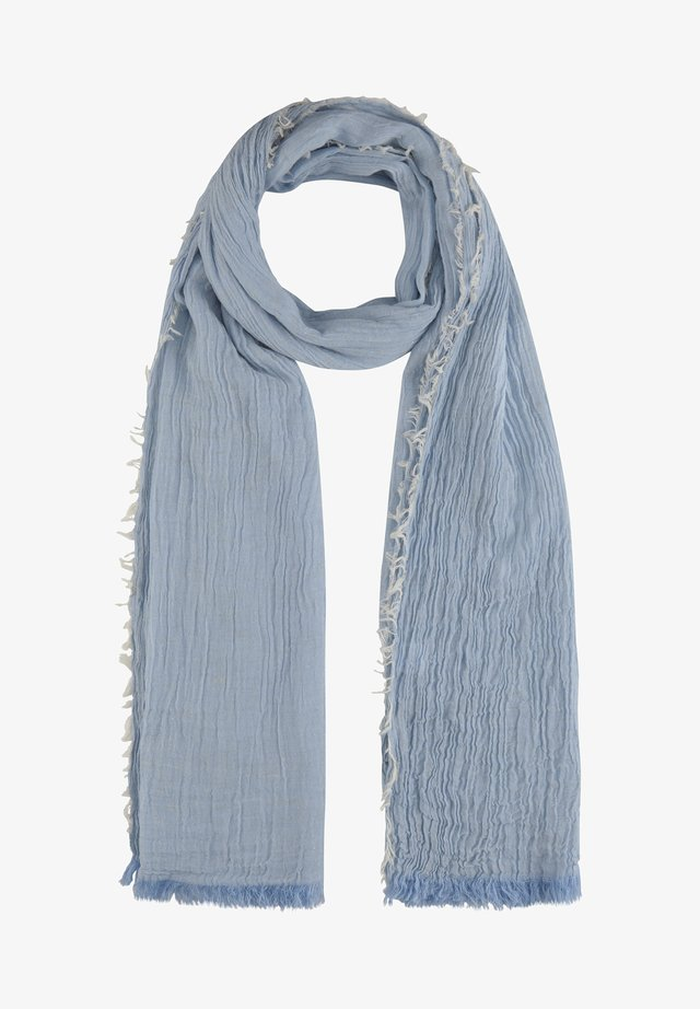 MIT GLANZAKZENTEN - Scarf - light blue