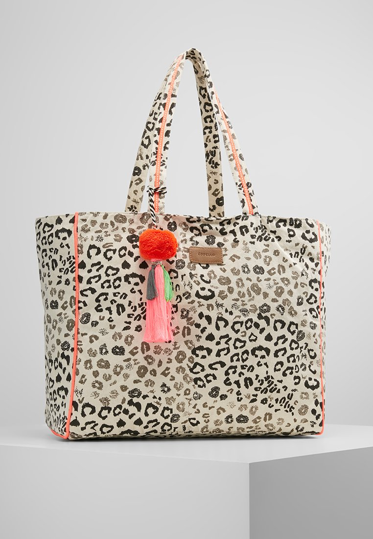 Codello - FUR PRINT SHOPPER - Cabas - beige