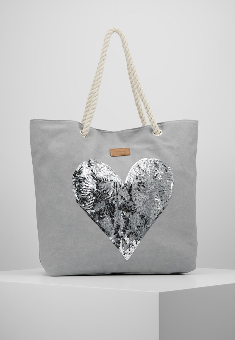 Codello - HEART SEQUINS - Shoppingväska - light grey