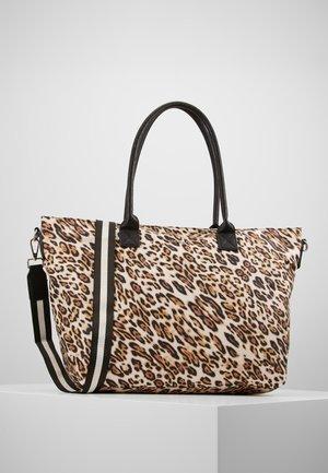 LEO PRINT - Shopping Bag - camel