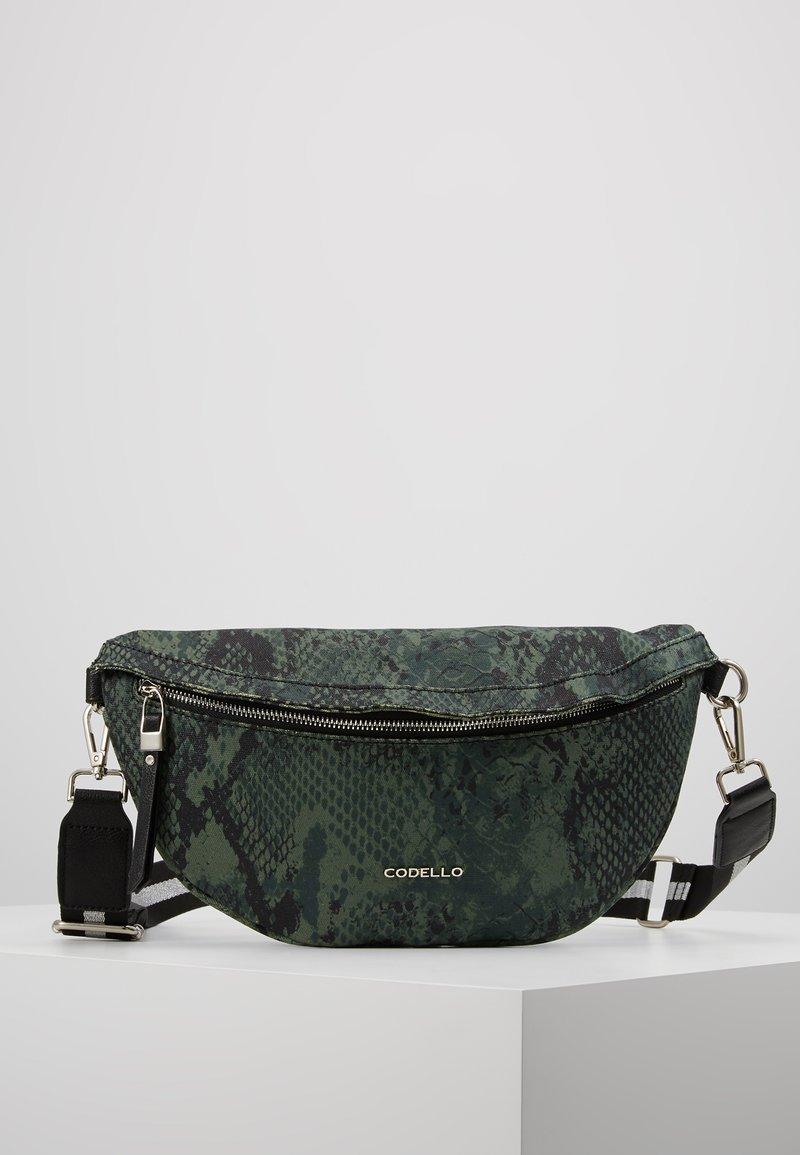 Codello - SNAKE PRINT BAG - Rumpetaske - bottle green