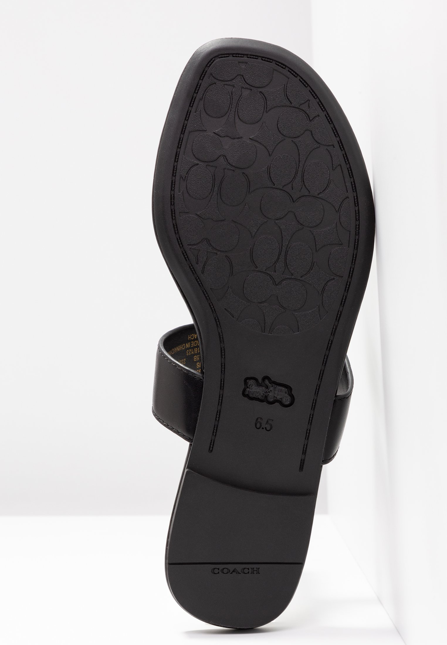 Coach Jessie Thong With Signature Buckle - Tongs Black