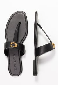 Coach - JESSIE THONG WITH SIGNATURE BUCKLE - T-bar sandals - black - 3