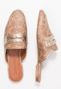 Coach - LOAFER SLIDE WITH SIGNATURE  - Pantofle - tan/champagne - 3