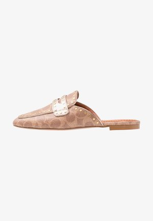 LOAFER SLIDE WITH SIGNATURE  - Mules - tan/champagne