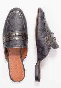 Coach - LOAFER SLIDE WITH SIGNATURE  - Muiltjes - charcoal/gunmetal - 3