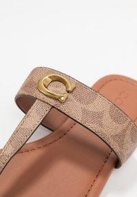 Coach - JESSIE - T-bar sandals - tan/dark brown - 2