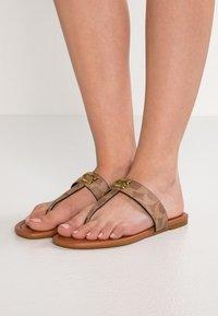 Coach - JESSIE - T-bar sandals - tan/dark brown - 0