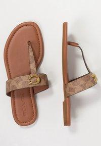 Coach - JESSIE - T-bar sandals - tan/dark brown - 3